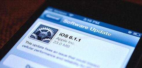 Apple выпустила прошивку iOS 6.1.1