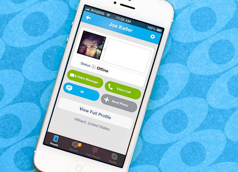 Видеосообщения в Skype