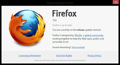 FireFox 19 получил собственный просмотрщик файлов PDF