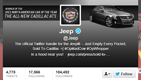 Хакеры взломали Twitter компании Jeep