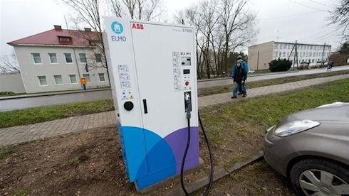 Эстония построила сеть заправок для электрокаров