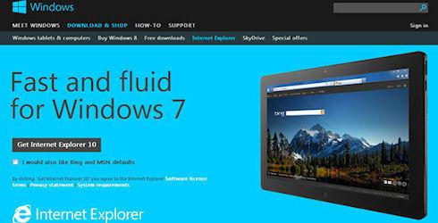 Internet Explorer 10 для Windows 7 доступен для скачивания