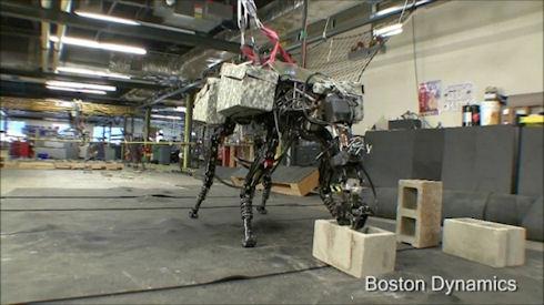 BigDog  - лучший блокометатель среди роботов