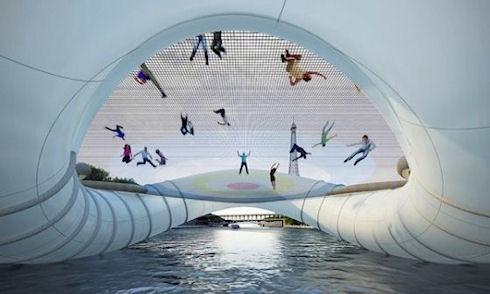В Париже построят первый надувной мост через Сену