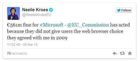 561 млн евро – штраф для Microsoft за Internet Explorer