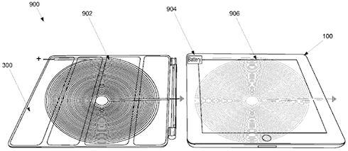 Apple патентует беспроводную зарядку планшетов