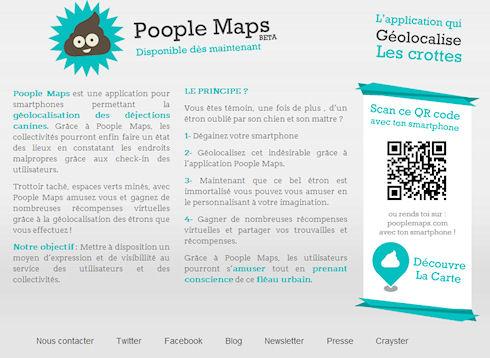 В Париже создана карта расположения собачьих экскрементов