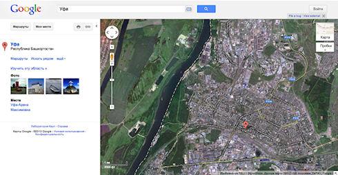 Google обновила карты российских городов