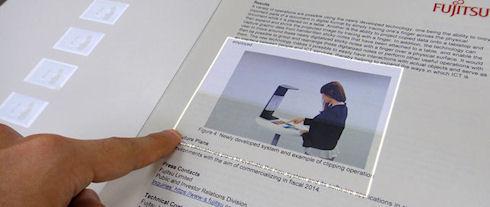 Специалисты Fujitsu превратят бумажную книгу в сенсорную