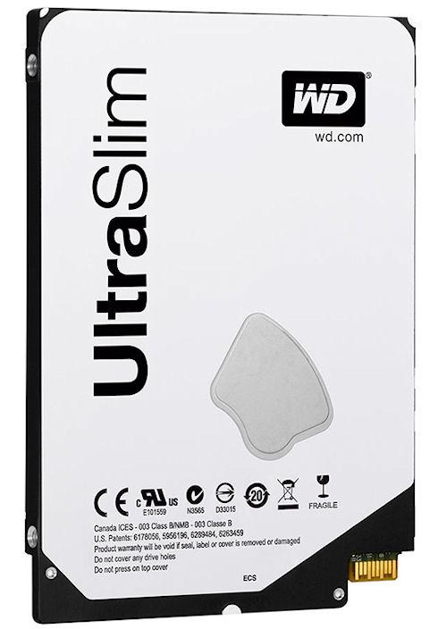 Тонкие жесткие диски WD Blue UltraSlim