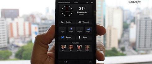 Apple показали, как могла бы выглядеть iOS 7