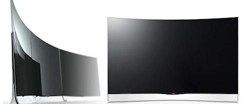 LG начинает продажи телевизора с изогнутым экраном