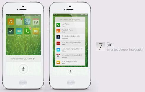Очередной вариант интерфейса iOS 7