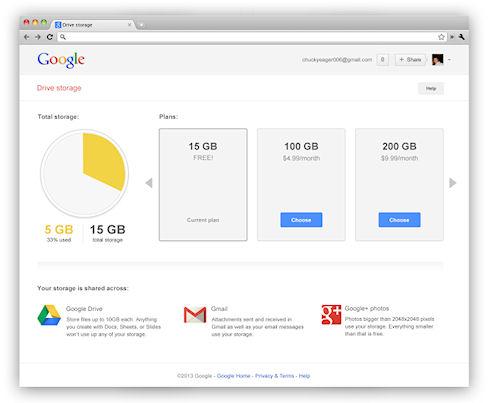 Google объединяет дисковые квоты своих сервисов