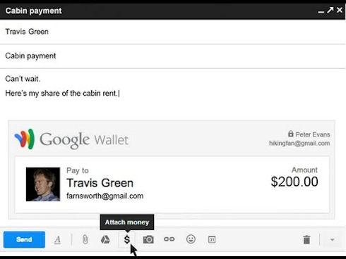 Google позволит прикреплять деньги к электронным письмам