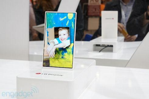 LG показала гибкие дисплеи