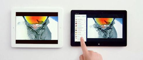 Microsoft положила iPad на обе лопатки