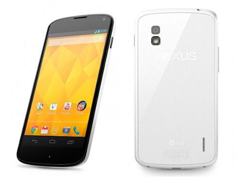 LG выпустит Nexus 4 в белом цвете