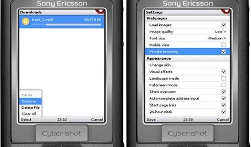Opera Mini 4.5 для телефонов получила менеджер закачек