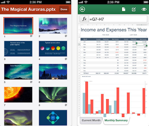 Microsoft Office Mobile для iOS