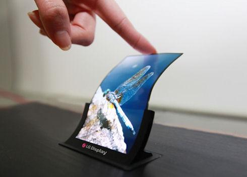LG наметила выпуск гибких дисплеев на конец года