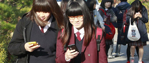 Южная Корея страдает от чрезмерного использования смартфонов