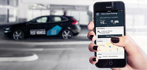 Новый автомобиль Volvo с системой автоматической парковки