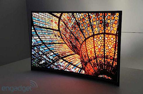 Первый изогнутый телевизор Samsung с диагональю 55″