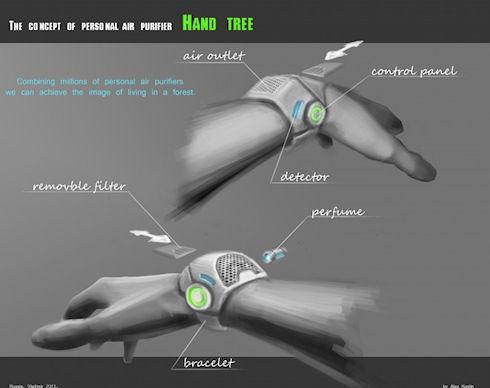 Hand-Tree – персональное «наручное дерево» для очистки воздуха