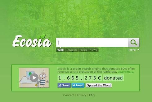 Ecosia.org – поисковик в защиту экологии Земли