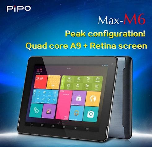 Pipo Max M6 – мощный китайский планшет с дисплеем Retina