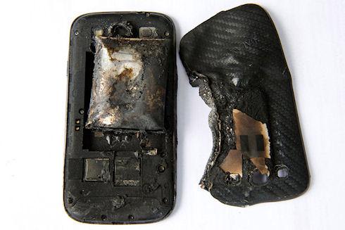 Очередной «взрывной» случай с Galaxy S III