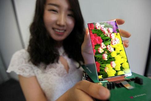 LG создала самый тонкий дисплей для мобильных гаджетов