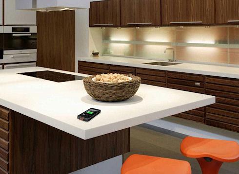 Мебель со встроенной беспроводной зарядкой