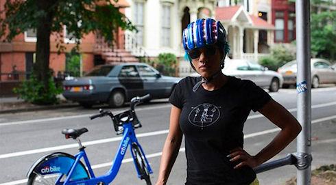 Велошлем с навигацией по Нью-Йорку