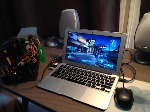 К MacBook Air подключили дискретное видео