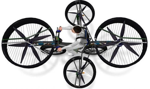 «F-Bike» — летающий электровелосипед