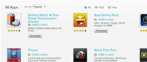 BlackBerry World превратился в свалку программ от двух издателей