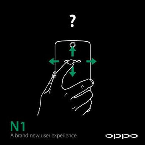 Oppo N1 – смартфон с двумя сенсорными панелями
