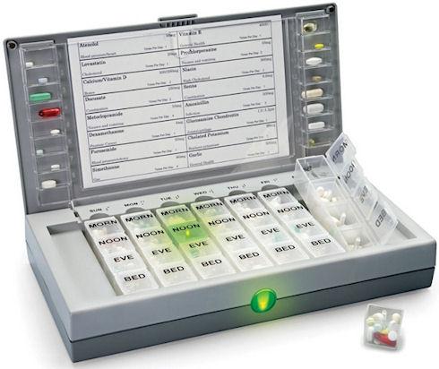 Аптечка Audio Visual Alerting Pillbox проследит за приемом лекарств