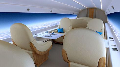 Самолет S-512 получит панорамные дисплеи вместо окон