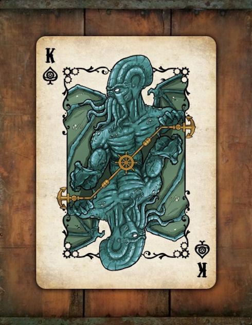 Набор для покера в стиле «Стимпанк Ктулху»