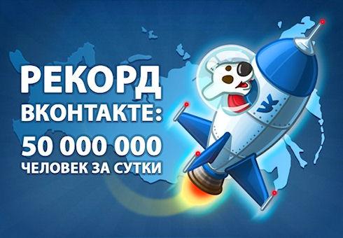 «ВКонтакте» преодолела отметку в 50 млн посетителей в сутки