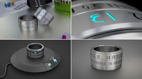 Оригинальные часы The Ring Clock «на палец»