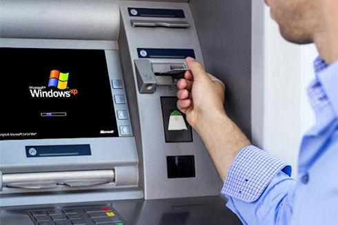 1,5 млн банкоматов в мире продолжают использовать Windows XP