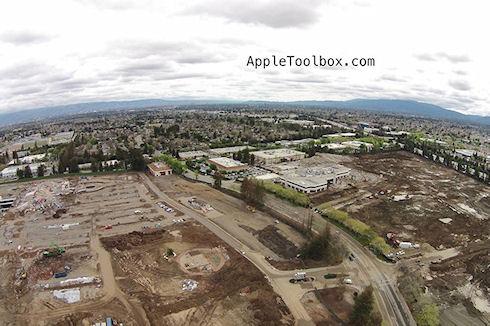 В Сеть попали фотографии стройплощадки штаб квартиры Apple