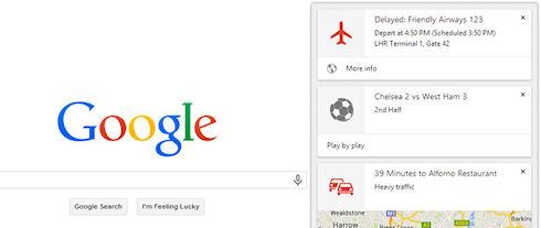 Поиск Google Now стал доступен на персональных компьютерах