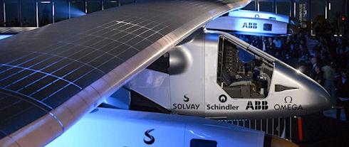 Самолет на солнечных батареях Solar Impulse 2 облетит вокруг Земли