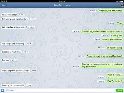 Мессенджер Telegram стал доступен в версии для iPad