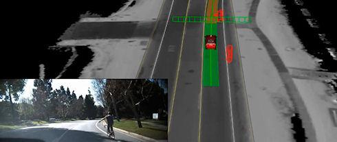 Автомобили Google научатся распознавать дорожные знаки и жесты велосипедистов